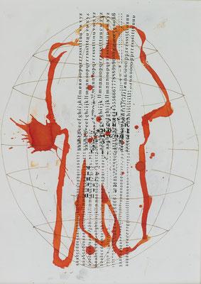 PREGNANCY, 2006, ink on paper, 42 x 29.7 cm