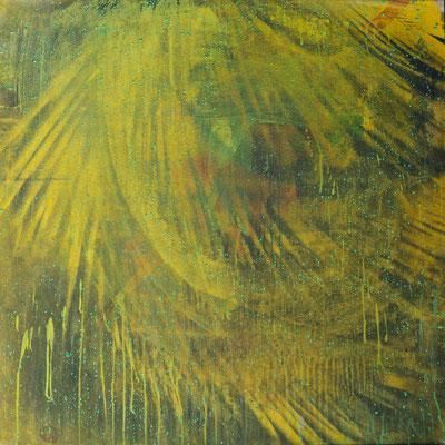 THE WILD PALMS, 2000, acrylic, oil and gouache on board, 79.8 x 79.8 cm