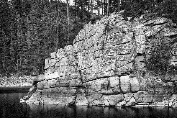 Felswand / Stausee Ottenstein © c.rebl