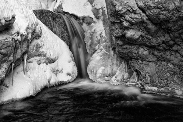 Strubklamm Ausgang - Tauglbach Winter © c.rebl