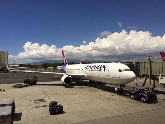 オアフ島到着、すぐにハワイ島へ