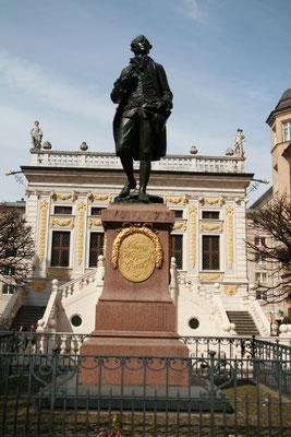 Goethe im Alter von 16 Jahren als Student in Leipzig
