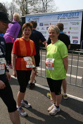 die Halbmarathonies vor dem Start