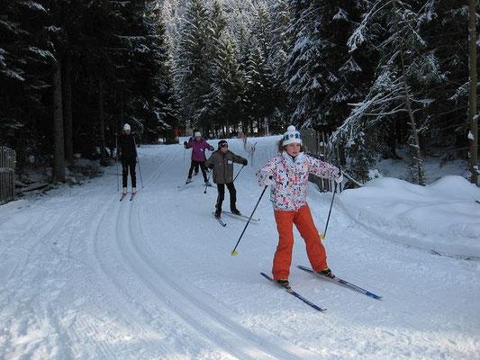 ski de fond à la station de La Bresse Lispach