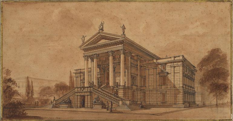 Perspektive von Gottfried Semper, 1864