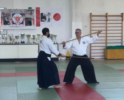 Alessandro Tittarelli Shihan mentre spiega ken tai jo (uchitachi M. Manicardi).