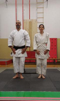 Silvia e Enrico dojo-cho al termine del keiko del 3 novembre.