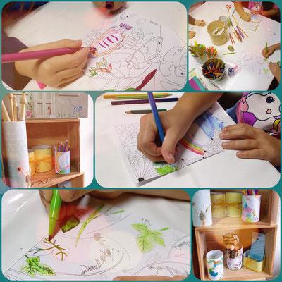 """Atelier deco diy pot à crayon, """"Avec presque rien"""", enfants, vacances toussaint, elles etc,  recyclage, détournement de boîte de conserve, sciez, thonon, leman, chablais"""
