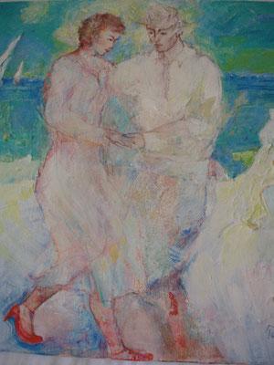 Tango at the beach