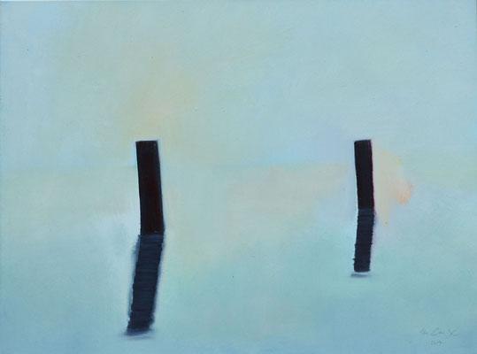 """""""Zwei im Nebel"""" Öl auf Leinw. 60x80"""