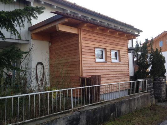 Anbau eines Bades an ein bestehendes Wohnhaus