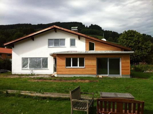 Erweiterung eines bestehenden Einfamilienhauses