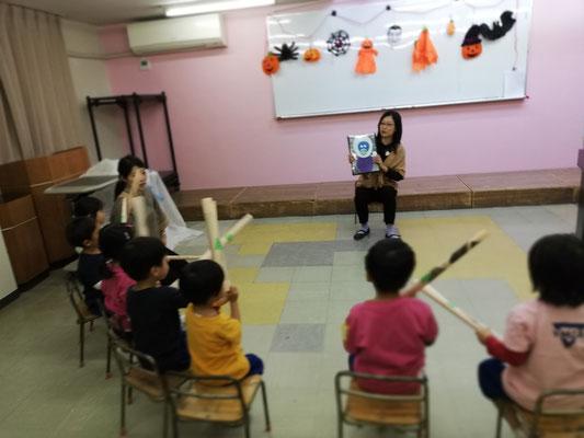 幼稚園リトミック ハロウィン どれみ音楽教室