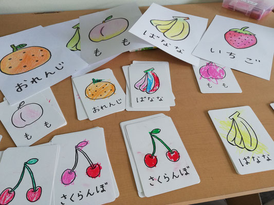 幼稚園リトミック 数と拍 どれみLABO くだものカード