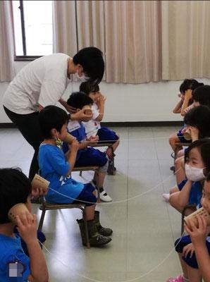 どれみLABO 幼稚園リトミック みんなのどれみ 糸電話