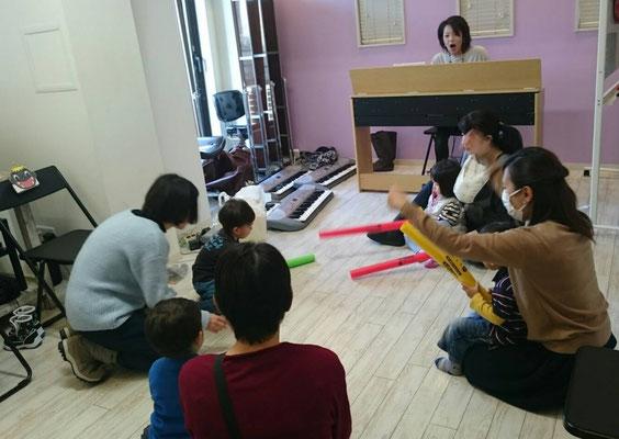 どれみ音楽教室 江東区 節分リトミック 田中由美子