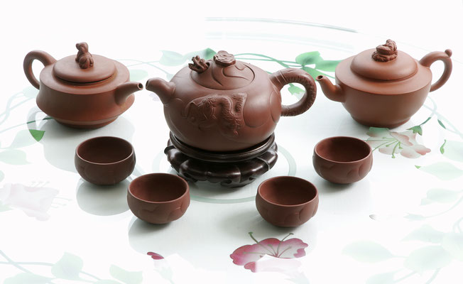 Our tea service, made from the famous Zisha-clay