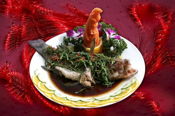 Gedämpfter Fisch nach chinesischer Art