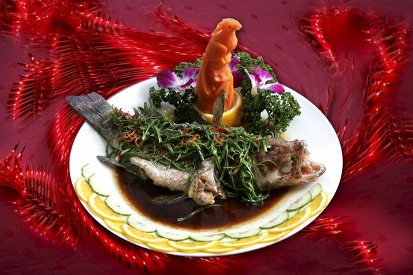 Steamed fish Chinese-style