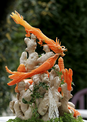 Carving from carrots