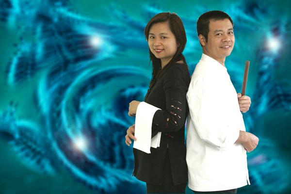 The hosts: Christin & Kin Chuen Li