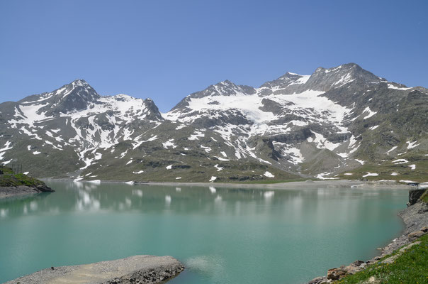 16 Lago Bianco auf dem Bernina-Pass, 2328 m hoch