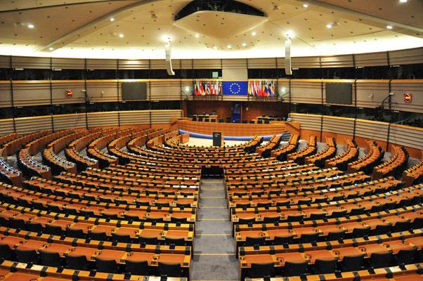 Plenarsaal im Europa-Parlament