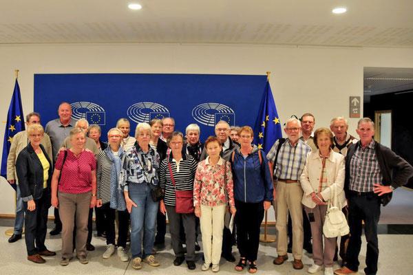 Die Reisegruppe im Europa-Parlament