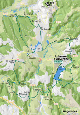 Carte randonnée VTT