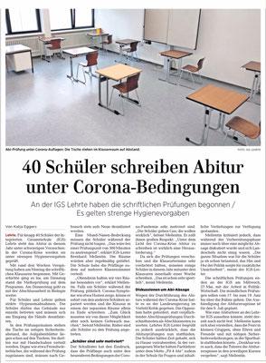 HAZ, Anzeiger, 15.5.2020