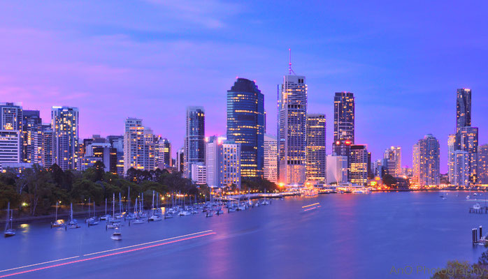 Blue hour in Brisbane