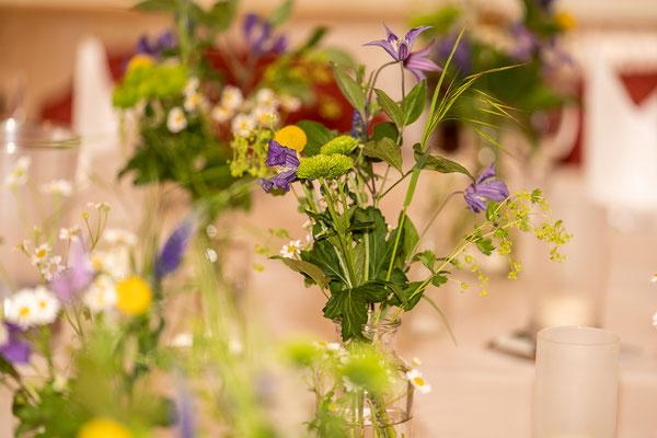Gasthaus Stevertal Blumendekoration