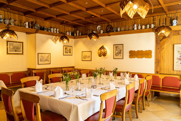 Hochzeitsdekoration im Gasthaus Stevertal in Nottuln