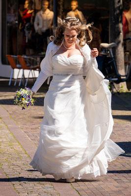 Braut kurz vor der Hochzeit