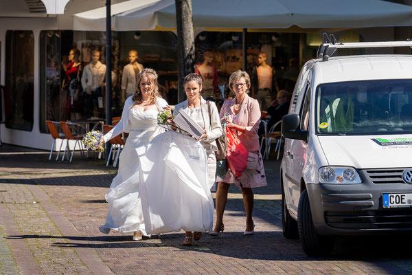 Braut Ankunft in Dülmen