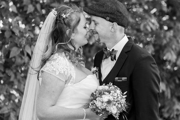 Schwarz Weiß Brautpaar
