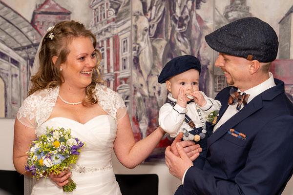 Brautpaar im Standesamt Dülmen