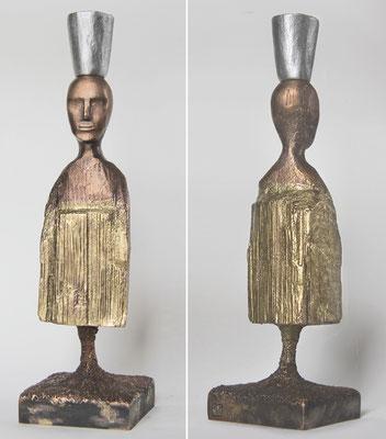 skulptur 1 | höhe 23 cm |  bronze und aluminiumguss patiniert, signiert und nummeriert | preis: 2.250 eur