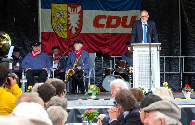Begrüßung durch Johann Hansen, Vorsitzender OV CDU Schenefeld und Umgebung