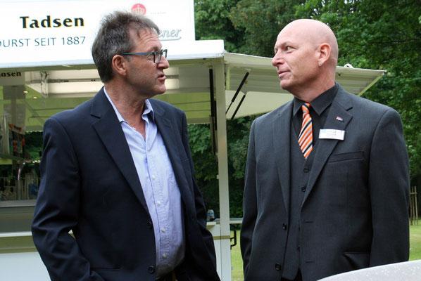 Axel Kunkel, Bürgermeister von Wacken im Gespräch mit Andreas Faust, LVB Amt Schenefeld