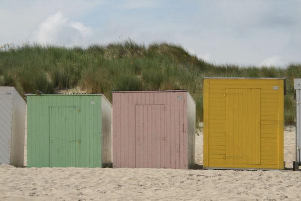 Strandhäuschen am Strand von Vrouwenpolder