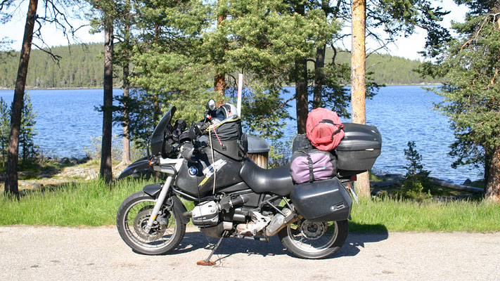 Am Enari See, Finnland
