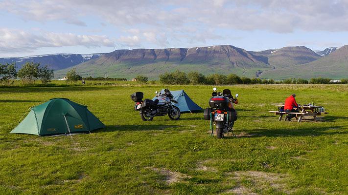 Campingplatz, Island
