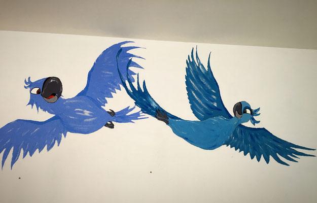 Wandmalerei Kinderzimmer (freihand gemalt)
