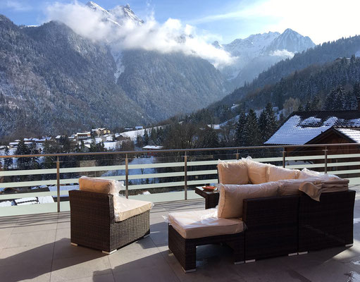 south-west terrace, apartment in Buerserberg, Montafon (near Arlberg)
