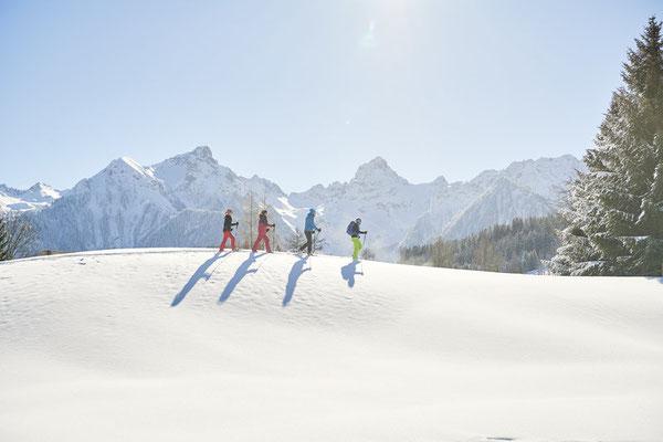 Schneeschuhwandern in Brandnertal, Vorarlberg