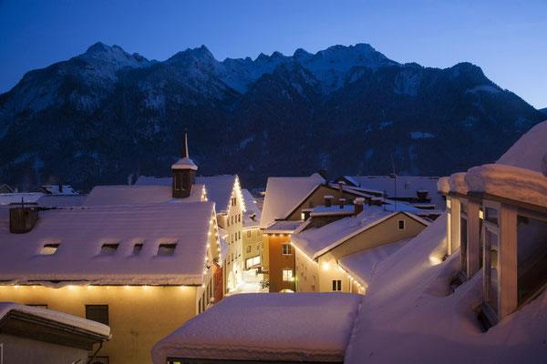 Weihnachtsmärkte in Bludenz, Nähe Skigebiet Brandnertal im Montafon