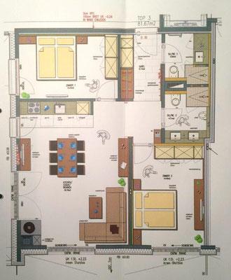 apartment Zimbablick, Brandnertal (Vorarlberg), plan