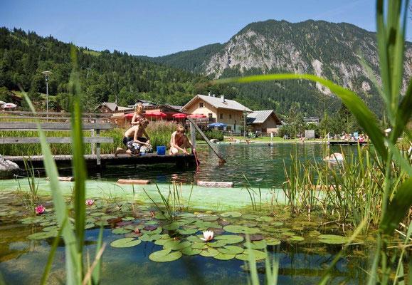 Appartement Zimbablick, Brandnertal - Alvierbad mit Bade- und Wasserspielbereich und Beachvolleyball
