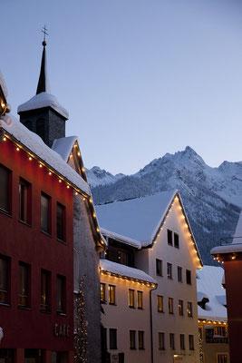 Winterzauber in Bludenz im Skigebiet Montafon, Vorarlberg
